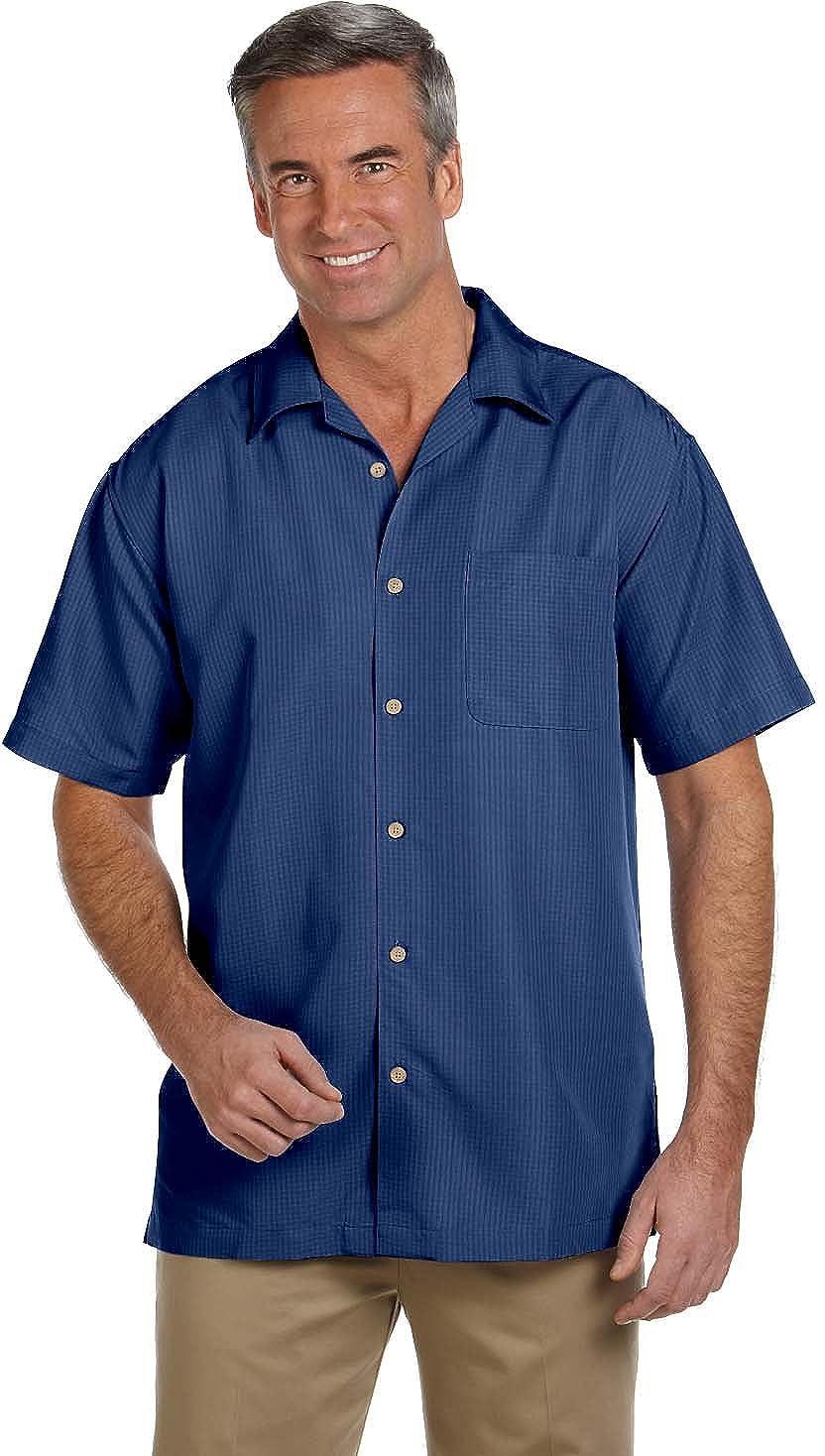 Harriton M560 Barbados textura Camp Herrenhemd