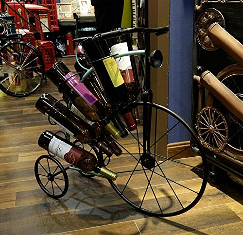 Ancaixin 8-Bottle Iron Tricycle Shaped Table Wine Racks and Stands for Bottle Storage Wine Holder by Ancaixin