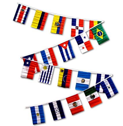 433ee3eff89a Amazon.com   30ft String Flag Set of 20 Latin American Country Flags ...