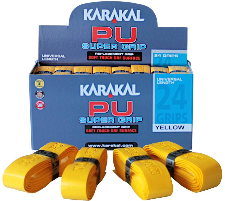 Karakal - PU Super Grip - Cinta de Agarre autoadhesiva para bádminton, Squash, Tenis, Palos de Hockey o Rizado - 24 pcs - Varios Colores