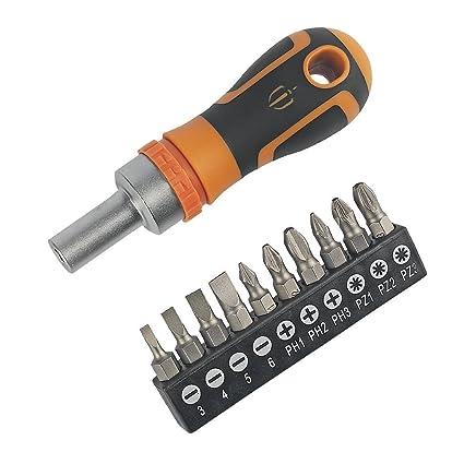 Magnusson destornillador de trinquete y puntas 11 piezas: Amazon.es ...