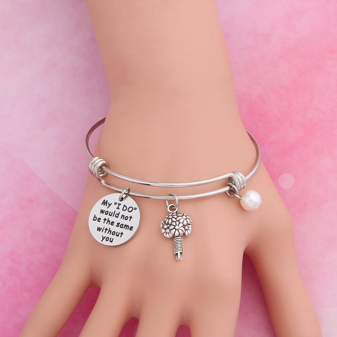 WUSUANED Wedding Gift Bridesmaid Bracelet Jewelry for Maid of Honor My I Do Would Not Be The Same Without You