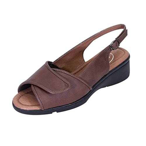 bc71eb52befd5 24 Hour Comfort Shirley Women Extra Wide Width Open-Toe Adjustable ...