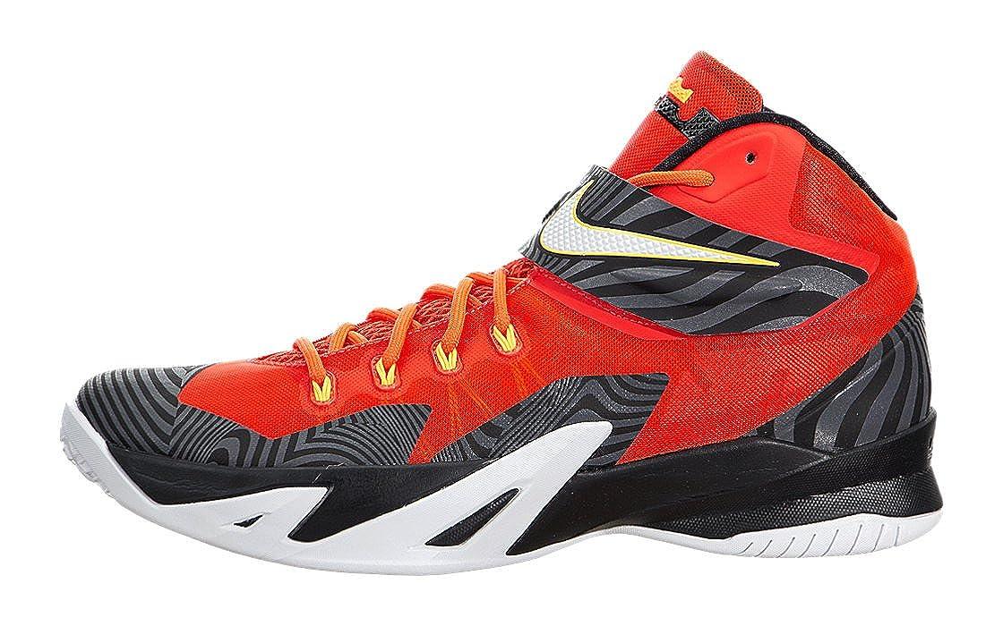 Nike Men s Zoom Soldier VIII PRM Bright Crimson White Black Basketball Shoe 9.5 Men US