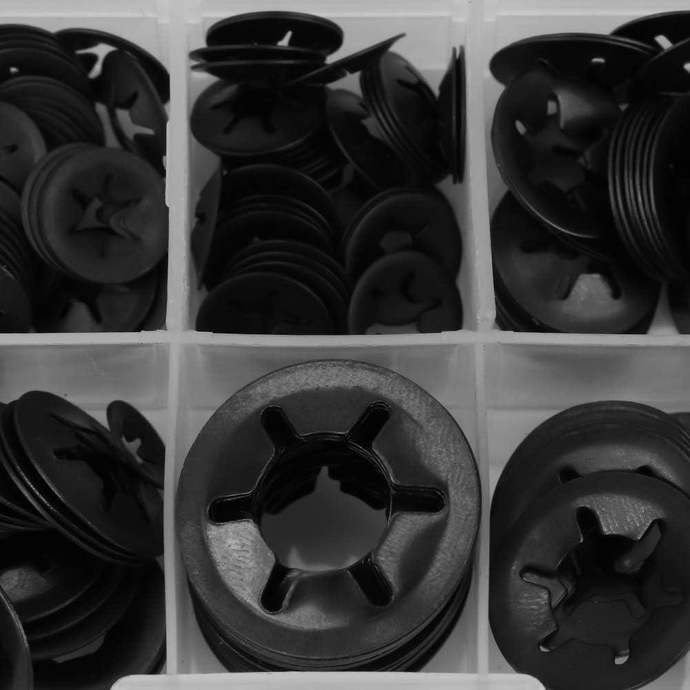 260pcs // pack 12mm Lock Washer Manganstahl Push On Scheibe Befestigung Sicherungsscheiben Set 3//4//5//6//8//10