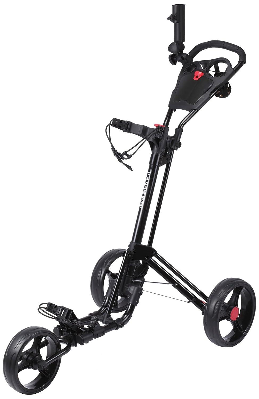 Qwik-Fold 2.0 Three Wheel Push and Pull Cart, Black