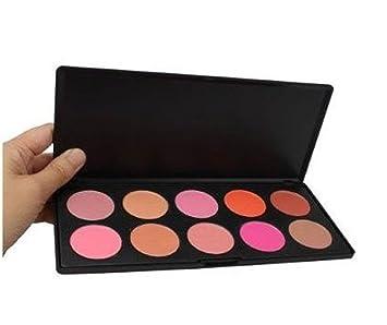 30f10113a SODIAL(R) Paleta de Colorete Rubor Polvo N? 2 10 Colores Maquillaje  Cosmetico Profesional: Amazon.es: Juguetes y juegos