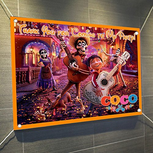 Coco Banner Large Vinyl Indoor or Outdoor Banner Sign Poster Backdrop, party favor decoration, 30