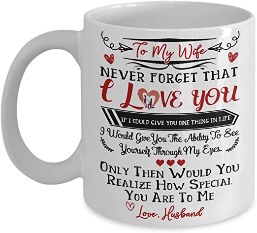Amazon Com To My Wife I Love You Mug Gift For Wife Best Gift For Wedding Anniversary Great Birthday Gift Idea For Her Wife Mug Kitchen Dining,Free Kitchen Design Software Online Australia