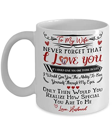 Amazoncom To My Wife I Love You Mug Gift For Wife Best Gift