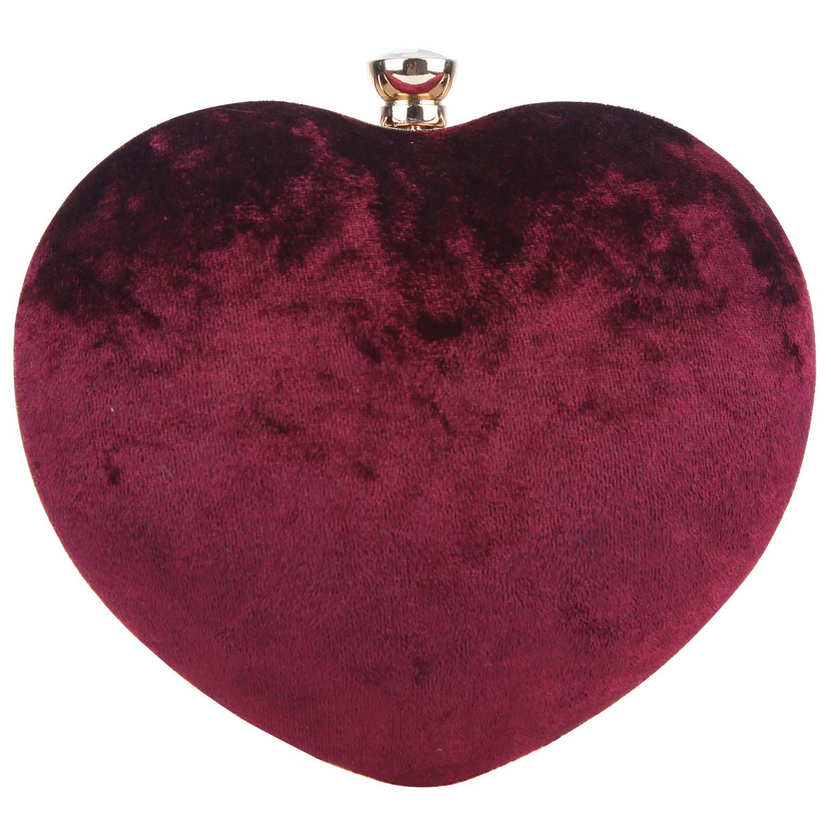 Fawziya Heart Clutch Velvet...