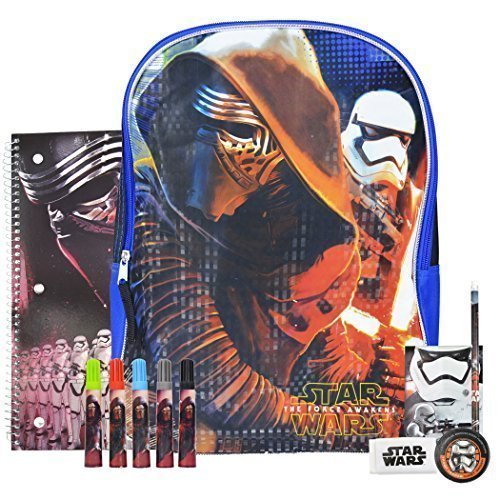 [Star Wars The Force Awakens Backpack and School Supplies Episode 7] (Costumes Cherry Creek)