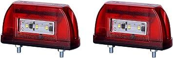 2 X 5 Led Kennzeichenleuchte 12v 24v Mit E Prüfzeichen Nummernschildleuchte Kennzeichenbeleuchtung Kennzeichen Auto Smd Rück Hinten Paar Lkw Pkw Kfz Auto