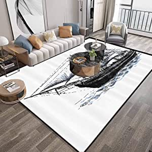 Area Rug Carpet Large 4x6 (Apartment Decor) Abstract Home ...