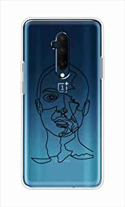 Okteq Clear TPU Protection and Hybrid Rigid Clear Back Cover Compatible with OnePlus 7T Pro - women face6 By Okteq