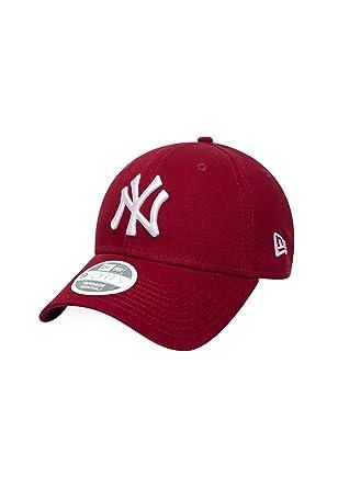 New Era NY Yankees Womens 940 League Essential Baseball Cap (Cardinal White) 9f73e146e19b