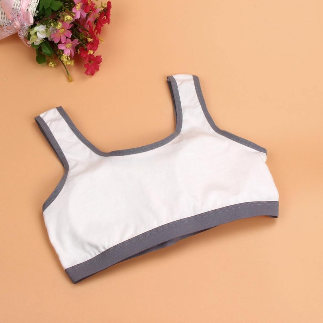 6500a7c9222 Lookatool Intimates Tanks, New Lovely Bra Girls Underwear Bra Vest Sport  Undies at Amazon Women's Clothing store: