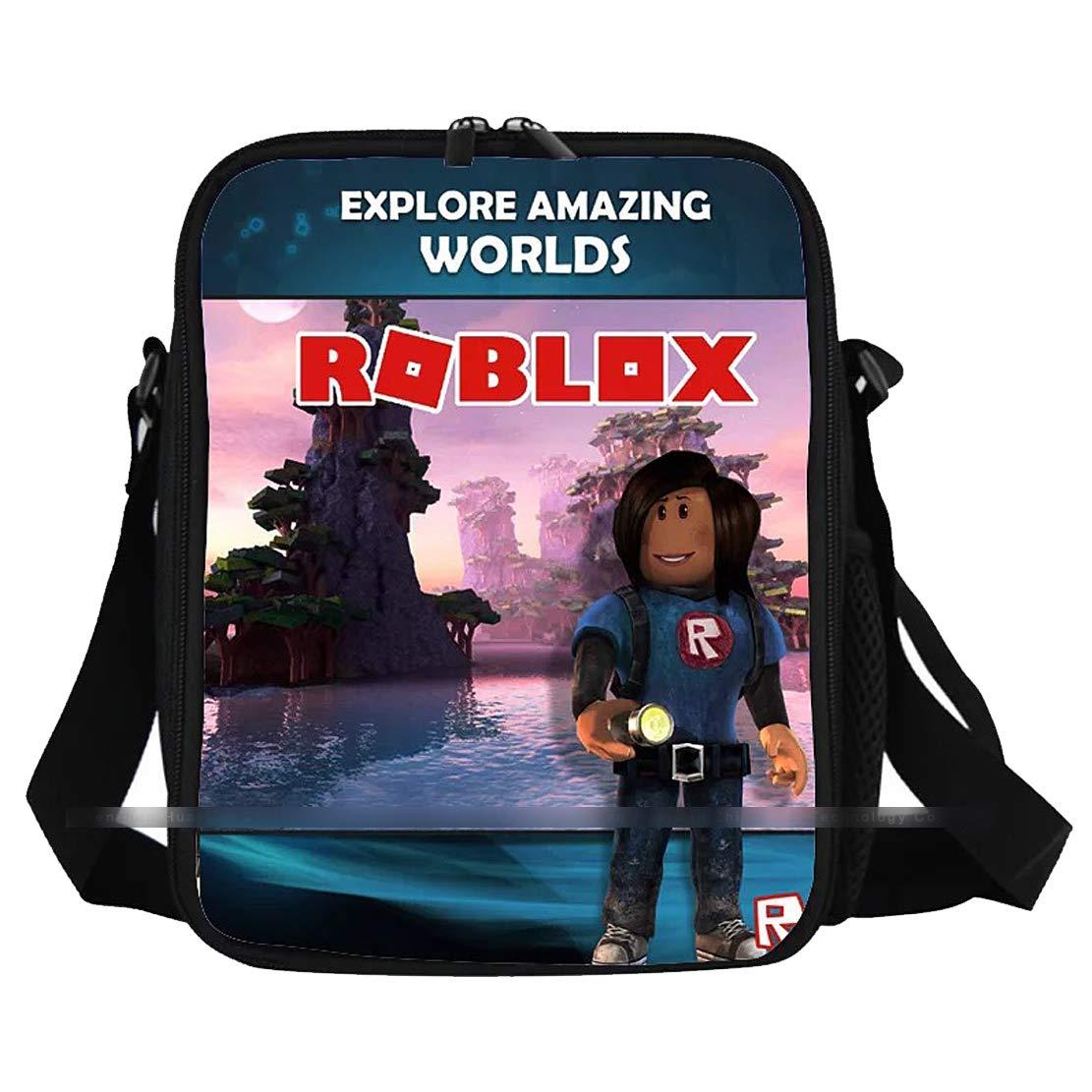 1ca23eb60a0c Amazon.com: Roblox One Shoulder Bag Kid Roblox Lunch Bag Lunch Box ...