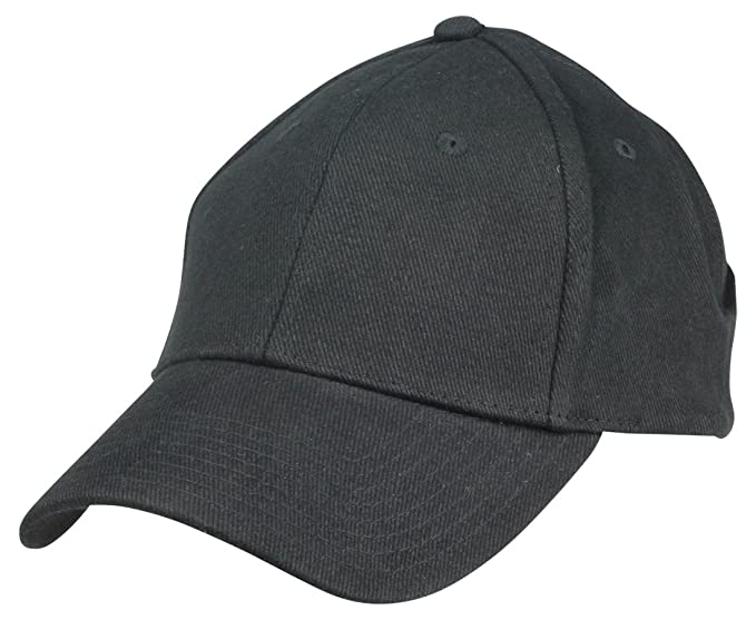 22492b7a Blank Hat Brushed Cotton Ball Cap in Black at Amazon Men's Clothing ...