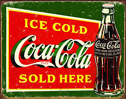 Desperate Enterprises Coca-Cola - Ice Cold Green Tin Sign, 16
