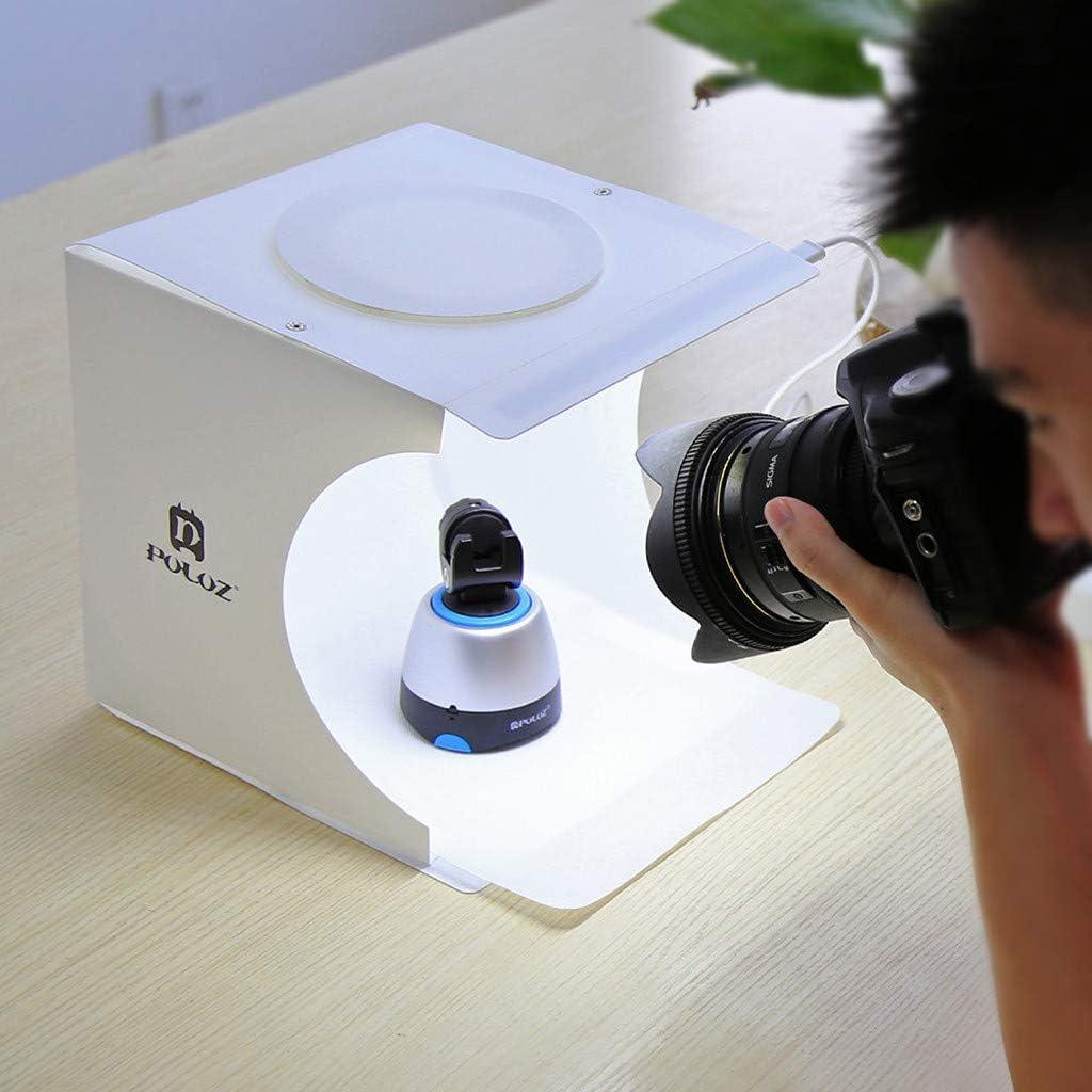 B BBT-shop Mini Photo Studio Tent Jewelry Light Box Kit with Double LED Light,Room Photo Studio Photography Lighting Tent Backdrop Cube Box with 6 Color