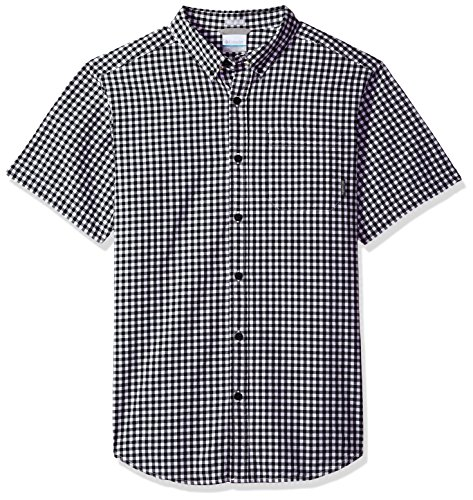 Columbia Men's Rapid Rivers Ii Short Sleeve Shirt, Black Gingham, Small