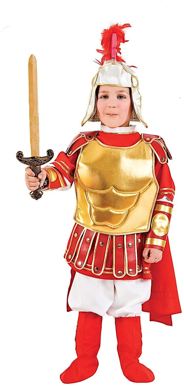 Costume di Carnevale da Gladiatore Romano Vestito per Ragazzo 11-12 Anni Travestimento Veneziano Halloween Cosplay Festa Party 50519 Taglia 12 XXXL