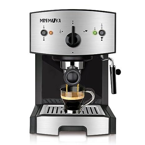 Mini Moka CM-1675 Cafetera Espreso 15 Bar / 1050 W / 1,25 L, 5.283441 Cups, Acero Inoxidable