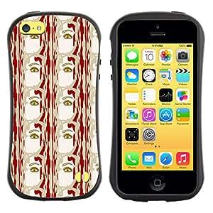 DesignCase Premium TPU / ABS Hybrid Back Case Cover Apple iPhone 5C ( the eye )