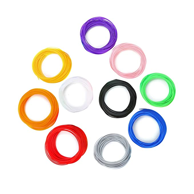 ULTNICE 10 rollos de impresora 3D Pluma filamento recambios 1.75mm ...