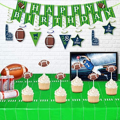 Amazon.com: Decoraciones de fiesta de cumpleaños de fútbol ...