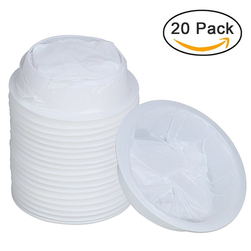 20 Pack Emesis Bags Disposable Vomit Bag for Uber Driver Car Travel 1500 ml