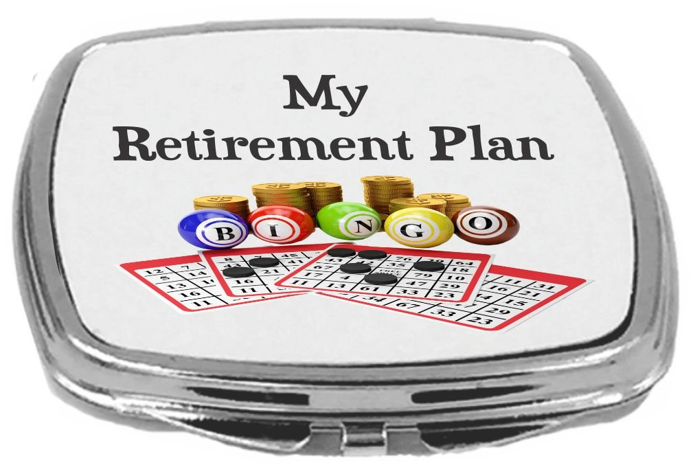 Rikki Knight My Retirement Plan is Bingo Compact Mirror by Rikki Knight