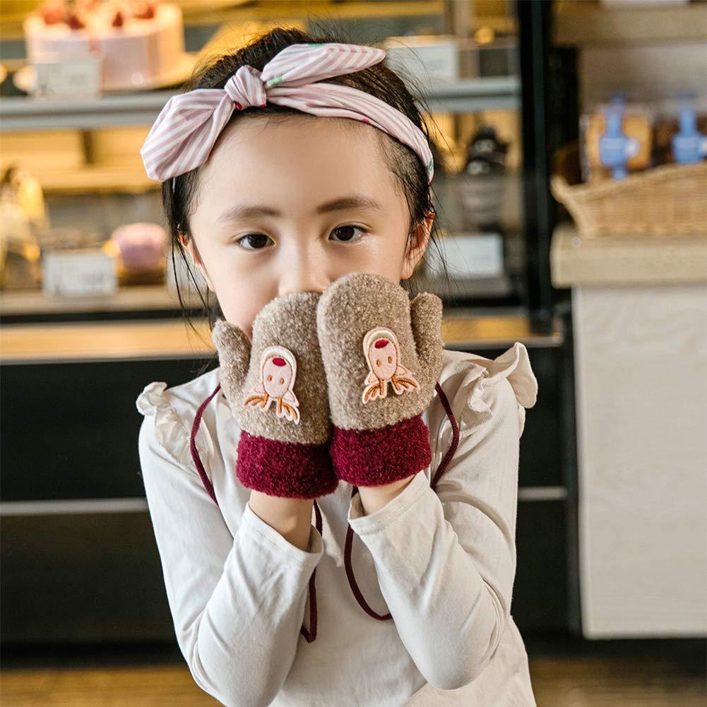 Handschuhe Baby Pulsw/ärmer Verdickung Gloves Pl/üschfutter Wollhandschuhe Fausthandschuhe Frottee F/äustlinge M/ädchen Jungen Winterhandschuhe Rentier Muster Skihandschuhe Kinder Weihnacht Geschenk