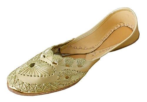 Kalra Creations - Mocasines para Mujer, Color Dorado, Talla 40 EU: Amazon.es: Zapatos y complementos