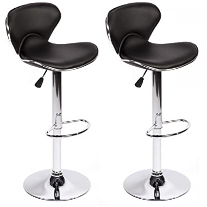 dc05985d2189 Homejoys New Set Of 2 Adjustable Height Swivel Bar Stools w  Base Counter  Height Stools
