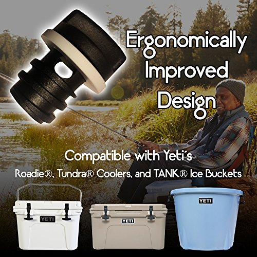 2-Pack of Replacement Drain Plugs for Yeti Coolers - Ergonomically Improved Drain Plug compatible with Yeti's Line of Roadie, Tundra, and TANK Coolers by BEAST Cooler Accessories (Image #5)