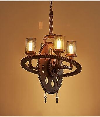 Modern Deckenlampe Vintage Industrial Kronleuchter Wohnzimmer Schlafzimmer  Küche Badezimmer Cafe Bar Eisen Getriebe Kronleuchter Balkon Schlafzimmer