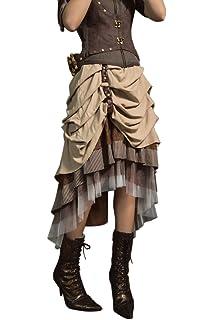 e6048541fbc4c Steampunk Dress Lolita Victorian Gothic Lace Skirt Renaissance Pirate  Costume