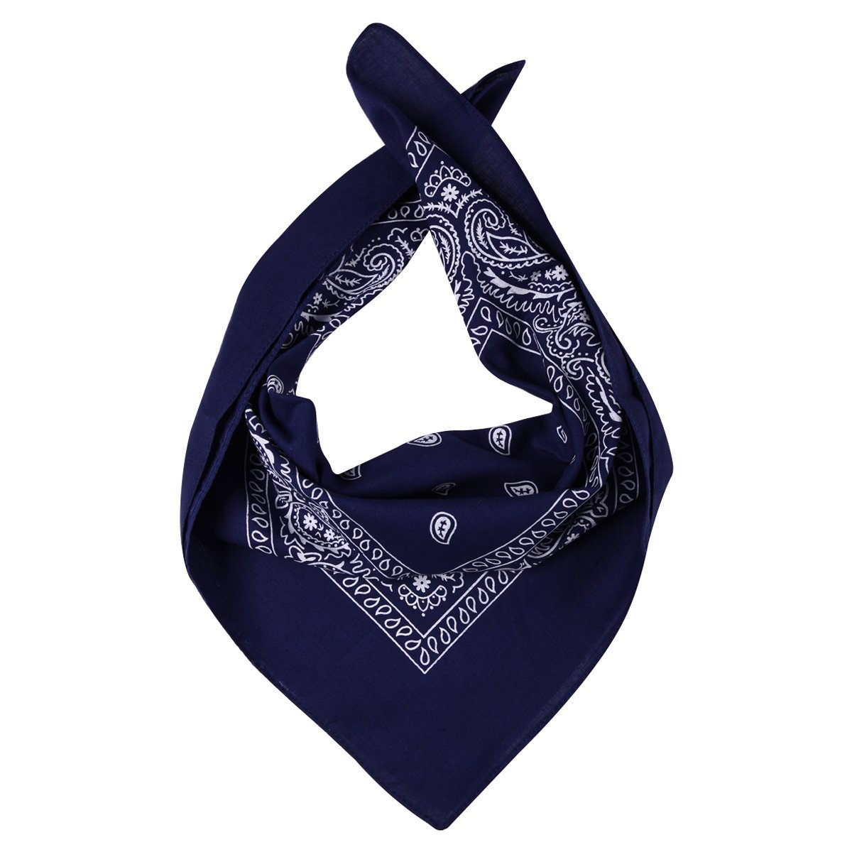 MDSP Paisley 100% Cotoon Bandana, azul marino NanJing Hao Feng Garment Co. Ltd.