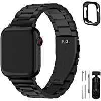 Fullmosa Compatible Apple Watch Band 38mm 40mm 42mm 44mm Series SE/6/5/4/3/2/1, Stainless Steel Metal For Apple Watch…