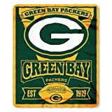 The Northwest Company 1NFL/03102/0017/AMZ NFL Green Bay Packers Marque Printed Fleece Throw, 50' x 60', Green Bay Packers, 50 x 60'