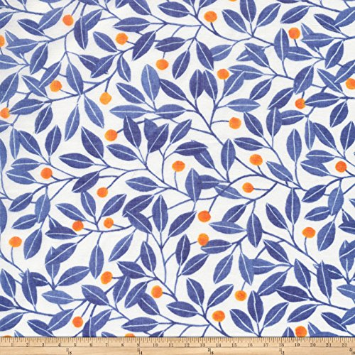Blue Batiste (Cloud 9 Organic Elliot Avenue Alena Batiste Blue/Multi Fabric By The Yard)