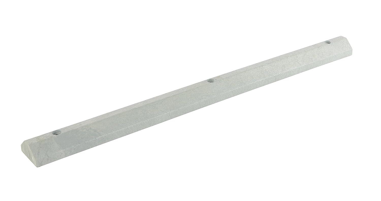 72 Length X 6 Width X 3.25 Height Gray Vestil CS-33-G Recycled Plastic Car Stop