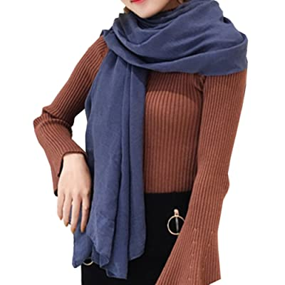 Écharpe Châle Femme Coton Foulard Châle Écharpe Longue Chaude Hiver Automne  Glands Écharpe Châle Foulard Grande f7dbb155db4