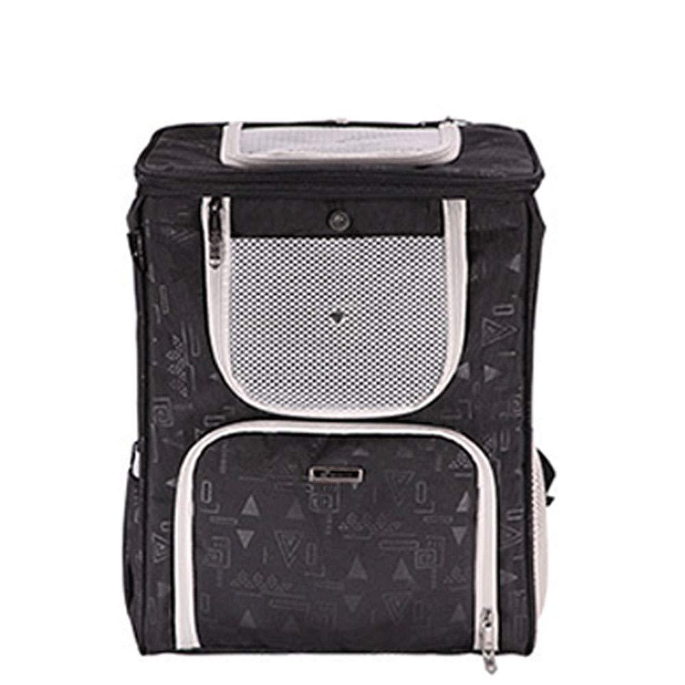 Black HN Pet Backpack Dog Out Backpack Car Dual-Use Pet Bag Pet Breathable Bag,Black
