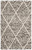 Safavieh Natura Collection NAT712A Hand-Woven Ivory and Stone Grey Wool Area Rug (2′ x 3′) Review