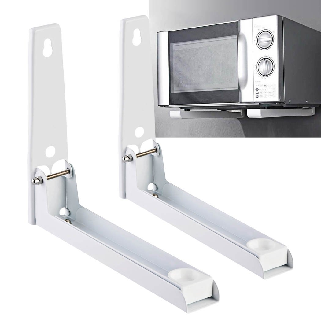 Cravog Microwave Bracket Kitchen Wall Mount Foldable Stretch Shelf Oven Rack 88lbS LB000131