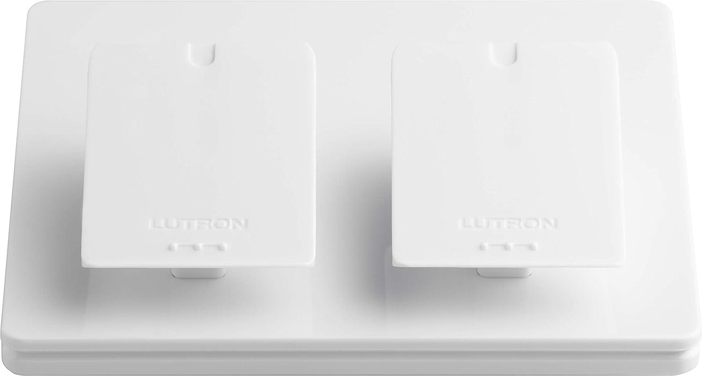 Lutron Caseta Wireless Dual-Pedestal for Pico Remote, L-PED2-WH, White
