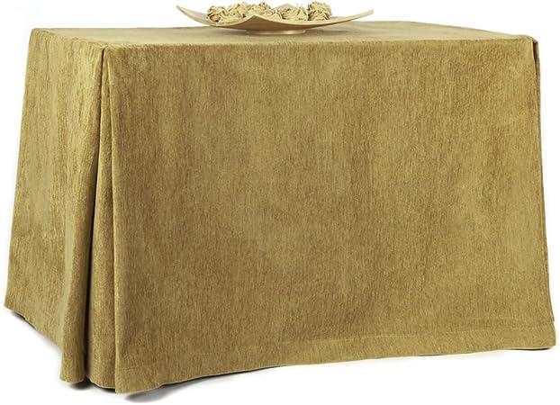 RIOMA 120 Falda para Mesa Camilla, Tejido 100% poliéster, Champan, 120 x 75 x 75 cm: Amazon.es: Hogar